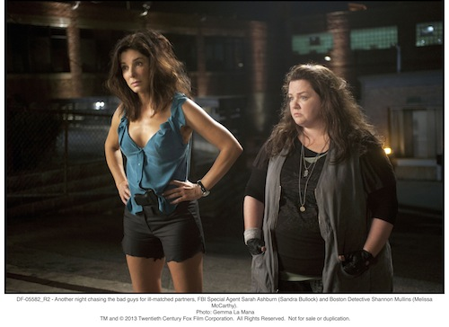 Another night chasing the bad guys for ill-matched partners, FBI Special Agent Sarah Ashburn (Sandra Bullock) and Boston Detective Shannon Mullins (Melissa McCarthy).Photo: Gemma La Mana -TM & 2013 Twentieth Century Fox Film Corporation. All Rights Reserved.