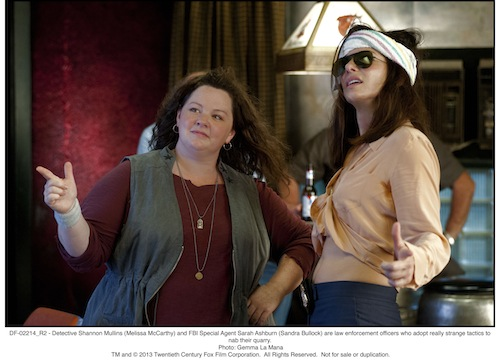 Detective Shannon Mullins (Melissa McCarthy) and FBI Special Agent Sarah Ashburn (Sandra Bullock) are law enforcement officers who adopt really strange tactics to nab their quarry.Photo: Gemma La Mana - TM and 2013 Twentieth Century Fox Film Corporation.  All Rights Reserved.  Not for sale or duplication.