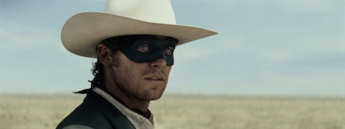 Armie Hammer as the Lone Ranger in The Lone Ranger. Disney. All rights reserved.
