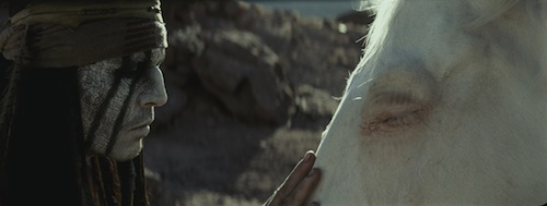 (ohnny Depp as Tonto in The Lone Ranger. Disney 2013. All rights reserved.