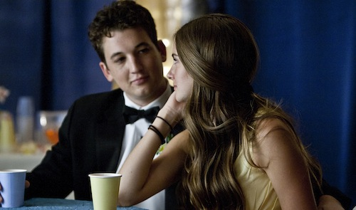 Miles Teller and Shailene Woodley in The Spectacular Now