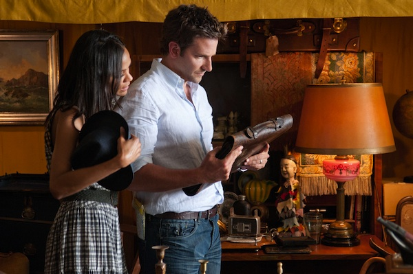 Bradley Cooper (as Rory Jansen) and Zoë Saldana (as Dora Jansen) star in CBS Films' romantic drama THE WORDS.  Photo Credit: Jonathan Wenk