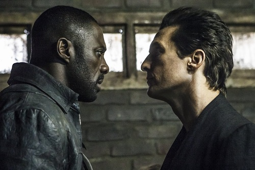 Walter (Matthew McConaughey) and Roland (Idris Elba) in Columbia Pictures' THE DARK TOWER. Photo credit Ilze Kitshoff 2016, courtesy Sony Pictures Entertainment.