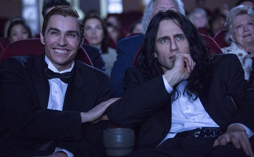 Dave Franco and James Franco in THE DISASTER ARTIST. Photo by Justina Mintz, courtesy of A24.