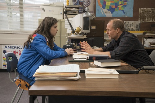 (Left to Right) Hailee Steinfeld and Woody Harrelson in The Edge of Seventeen, photo courtesy STX Entertainment 2016 All rights reserved.
