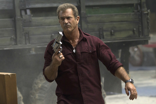BMel Gibson stars as 'Conrad Stonebanks' in THE EXPENDABLES 3. Photo Credit: Phil Bray.