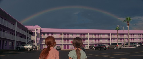 Brooklynn Prince and Valeria Cotto in The Florida Project. Photo by Marc Schmidt, courtesy of A24.