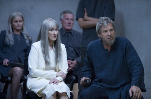 MERYL STREEP and JEFF BRIDGES star in THE GIVER Copyright: © 2014 The Weinstein Company. All Rights Reserved. / Photo: DAVID BLOOMER
