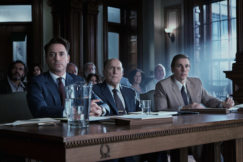 (L-r) ROBERT DOWNEY JR. as Hank Palmer, ROBERT DUVALL as Joseph Palmer and DAX SHEPARD as C.P. Kennedy in Warner Bros. Pictures' and Village Roadshow Pictures' drama THE JUDGE, a Warner Bros. Pictures release. Photo Credit: Claire Folger. Copyright: 2014 WARNER BROS. ENTERTAINMENT INC., WV FILMS IV LLC AND RATPAC-DUNE ENTERTAINMENT LLC-U.S., CANADA, BAHAMAS & BERMUDA ©2014 VILLAGE ROADSHOW FILMS (BVI) LIMITED, WARNER BROS. ENTERTAINMENT INC. AND RATPAC-DUNE ENTERTAINMENT LLC - ALL OTHER TERRITORIES.