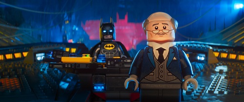 Ralph Fiennes and Will Arnett in The LEGO Batman Movie, photo courtesy Warner Bros., 2017 All rights reserved.