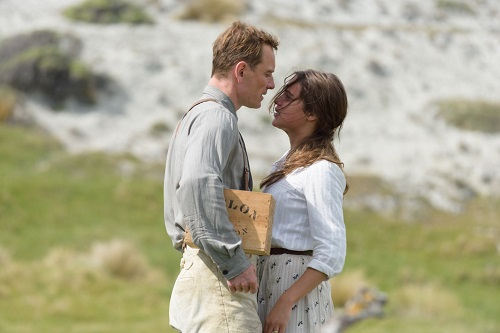 Michael Fassbender and Alicia Vikander in The Light Between Oceans, photo courtesy Dreamworks II Distribution Co. LLC., All Rights Reserved.