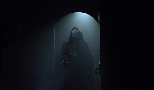 BONNIE AARONS as The Nun in New Line Cinema's horror film THE NUN, a Warner Bros. Pictures release. Photo by Martin Maguire.