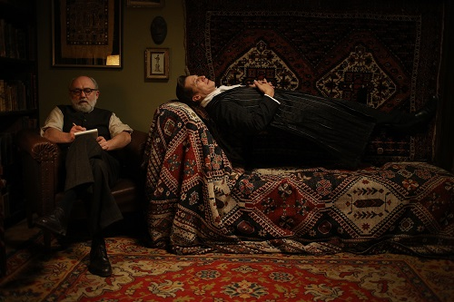 Karl Fischer and Tobias Moretti in Therapy for a Vampire (2014). Courtesy of Music Box Films.