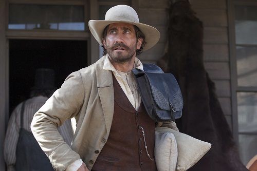 Jake Gyllenhaal stars as Morris in Jacques Audiard's THE SISTERS BROTHERS, an Annapurna Pictures release. Photo Credit : Magali Bragard / Annapurna Pictures.