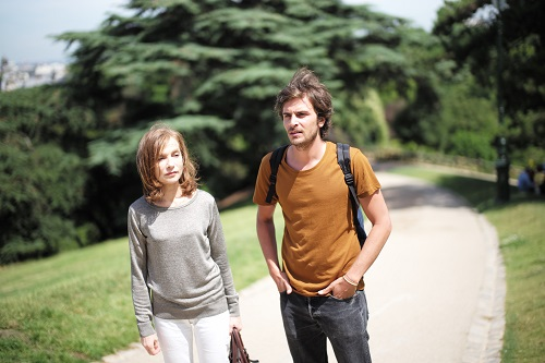 From left, Isabelle Huppert (Nathalie) and Roman Kolinka (Fabien) in Mia Hansen-Løve's THINGS TO COME.  Photo by Ludovic Bergery. Courtesy of Sundance Selects. A Sundance Selects release.