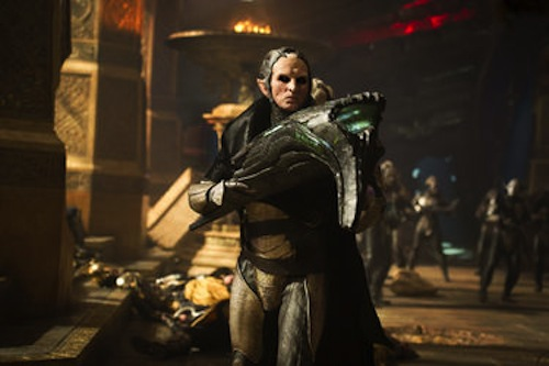 Christopher Eccleston in Thor: The Dark World. 2013 Marvel.