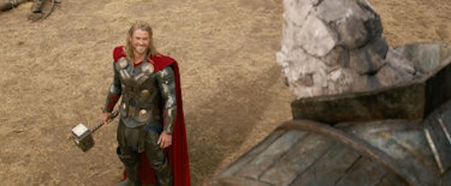 Chris Hemsworth in Thor: The Dark World. 2013 Marvel.