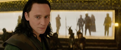 Tom Hiddleston as Loki in Thor: The Dark World. 2013 Marvel.