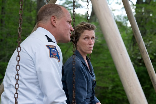Woody Harrelson and Frances McDormand in the film THREE BILLBOARDS OUTSIDE EBBING, MISSOURI. Photo by Merrick Morton, © 2017 Twentieth Century Fox Film Corporation All Rights Reserved.