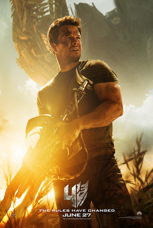 Mark Wahlberg, 'Transformers: Age of Extinction' Poster