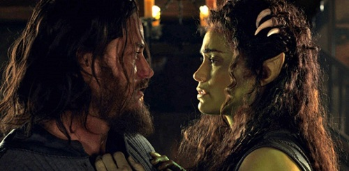 Travis Fimmel and Paula Patton in Warcraft (2016).  Photo courtesy Universal Pictures.