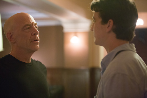 Left to right: J.K. Simmons as Fletcher and Miles Teller as Andrew. Photo by Daniel McFadden, Courtesy of Sony Pictures Classics