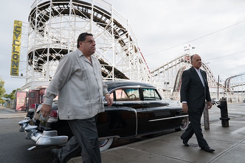 Steve Schirripa and Tony Sirico in Woody Allen's WONDER WHEEL, an Amazon Studios release. Credit: Jessica Miglio / Amazon Studios.