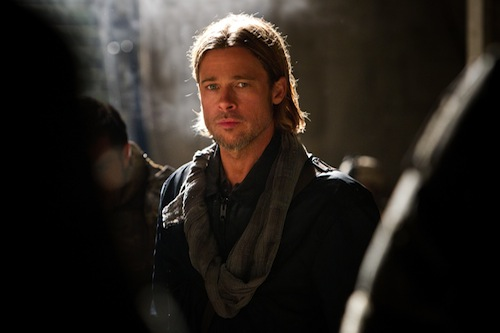 Brad Pitt is Gerry Lane in WORLD WAR Z, from Paramount Pictures and Skydance Productions in association with Hemisphere Media Capital and GK Films.