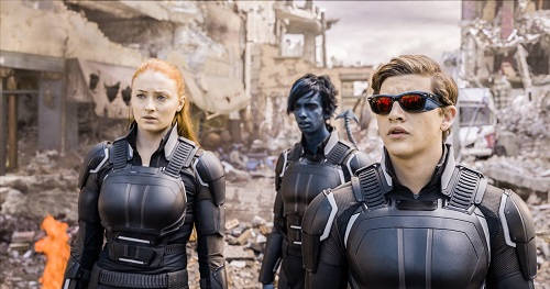 Kodi Smit-McPhee, Sophie Turner, and Tye Sheridan in X-Men: Apocalypse. Courtesy of Twentieth Century Fox Film Corporation, All rights reserved.