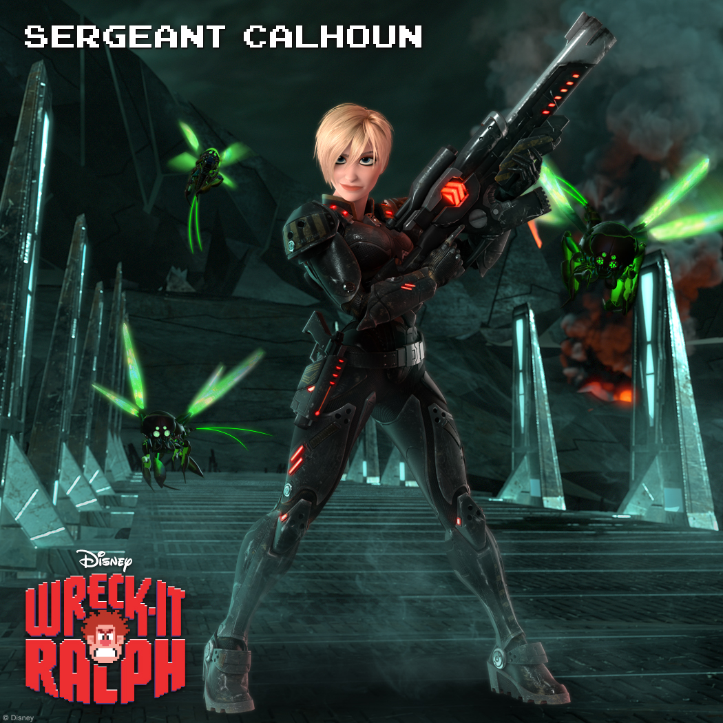 Sergeant Tamora Jean Calhoun: One Mean Space Marine In the sci-fi battle zone of Hero's Duty, Sergeant Calhoun is more than just a pretty face—she is the tough-as-nails, take-charge leader who fights for humanity's freedom. When she's not offering in-game intel, she's training her troops for the next attack wave. This unrelenting commander is driven by a personal vendetta and will stop at nothing to protect the player and the arcade from a virulent Cy-Bug invasion.