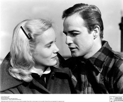 Eva Marie Saint and Marlon Brando in On the Waterfront (1954), which earned both Oscars. Saint will be in the spotlight at the 2013 TCM Classic Film Festival when she sits down with Robert Osborne for an extended interview. The event will be taped to air on TCM next spring as Eva Marie Saint: Live from the TCM Classic Film Festival.