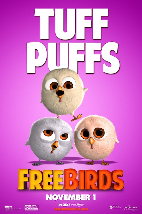 Free Birds Character Poster, Tuff Puffs