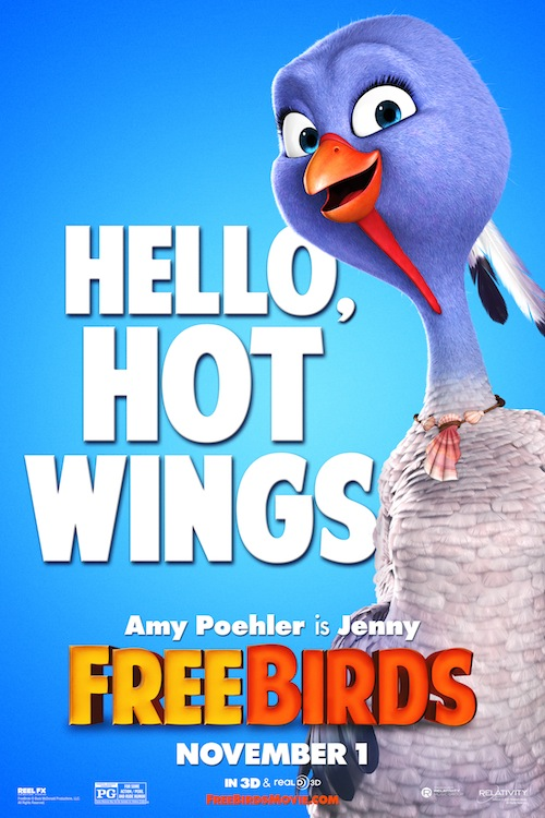 Free Birds Character Poster, Jenny