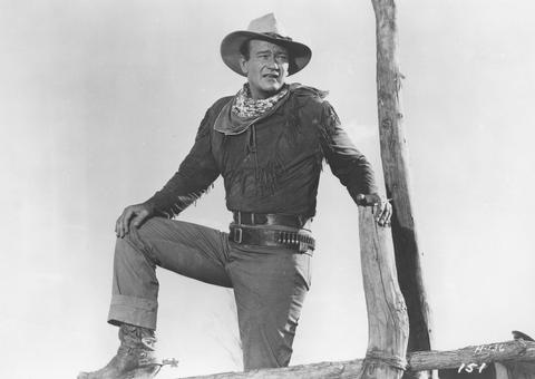 John Wayne in HONDO (1953), which will be presented in its original 3D format at the 2013 TCM Classic Film Festival in April