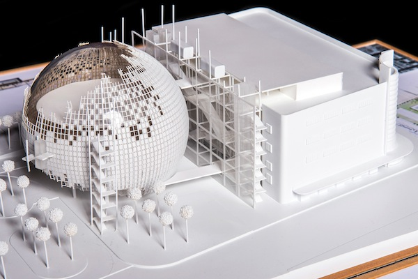 The current architectural model for The Academy Museum of Motion Pictures.  keywords: Academy Museum Experience  credit: ©Renzo Piano Building Workshop/©Studio Pali Fekete architects/©A.M.P.A.S.