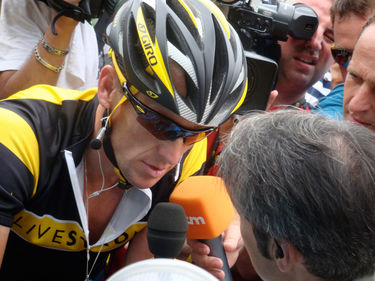 Lance Armstrong in The Armstrong Lie. 2013 Frank Marshall / Sony Pictures Classics