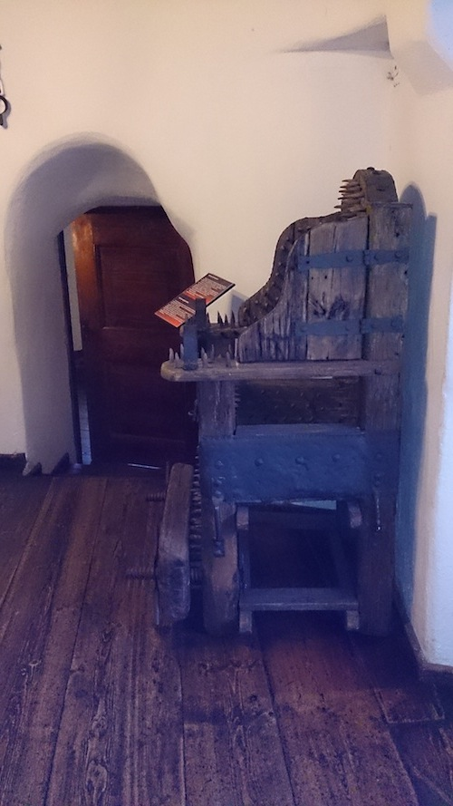 Bran Castle, Torture Chair. Copyright: Kathryn Schroeder 2013