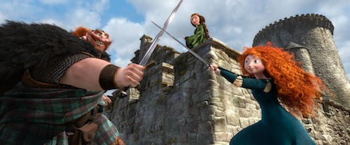 """BRAVE"" (L-R) KING FERGUS, QUEEN ELINOR and MERIDA. ©2011 Disney/Pixar. All Rights Reserved."