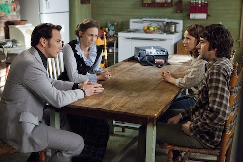 PATRICK WILSON as Ed Warren, VERA FARMIGA as Lorraine Warren, LILI TAYLOR as Carolyn Perron and RON LIVINGSTON as Roger Perron in New Line Cinema's supernatural thriller