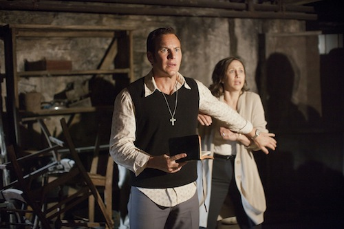 PATRICK WILSON as Ed Warren and VERA FARMIGA as Lorraine Warren in New Line Cinema's supernatural thriller