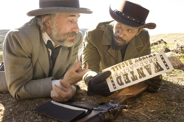 Christoph Waltz as Schultz and Jamie Foxx as Django in DJANGO UNCHAINED