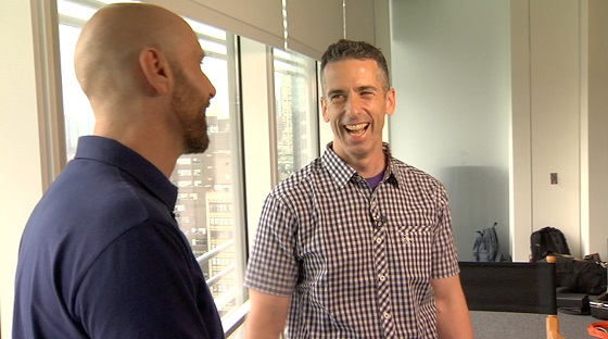 Dan Savage Laughing With David