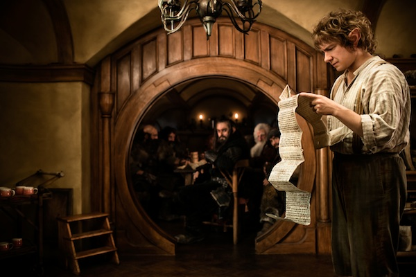 MARTIN FREEMAN as Bilbo Baggins in New Line Cinema's and MGM's fantasy adventure