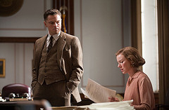 "(L-r) LEONARDO DiCAPRIO as J. Edgar Hoover and NAOMI WATTS as Helen Gandy in Warner Bros. Pictures' drama ""J. EDGAR,"" a Warner Bros. Pictures release."