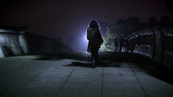 A woman on a college campus in THE HUNTING GROUND - Photo courtesy of RADiUS
