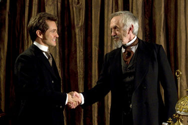 hugh Dancy and Jonathan Price in Hysteria. 2012 Sony Pictures Classics
