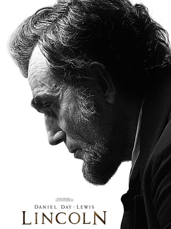 "Daniel Day Lewis in the title role of ""Lincoln"" directed by Steven Spielberg."