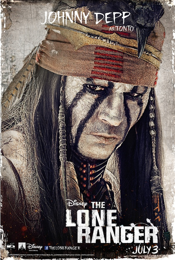 The Lone Ranger Character Poster, Johnny Depp