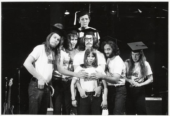 Garry Goodrow, Peter Elbling, Chevy Chase, Chris Guest, John Belushi, Mary-Jennifer Mitchell and Alice Peyton in DRUNK STONED BRILLIANT DEAD: THE STORY OF THE NATIONAL LAMPOON, a Magnolia Pictures release. Photo courtesy of Magnolia Pictures. Photo credit: National Lampoon