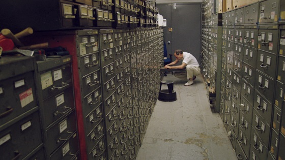 Last remaining archivist Jeff Roth searches The New York Times morgue.